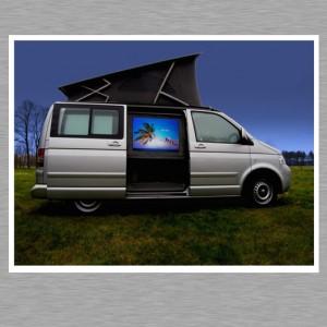 Mac mini Car PC - Outdoorkino auf Rückprojektionsleinwand