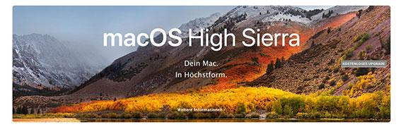Mac OSX 10.13 - High Sierra - Apple Support Hamburg - System Support