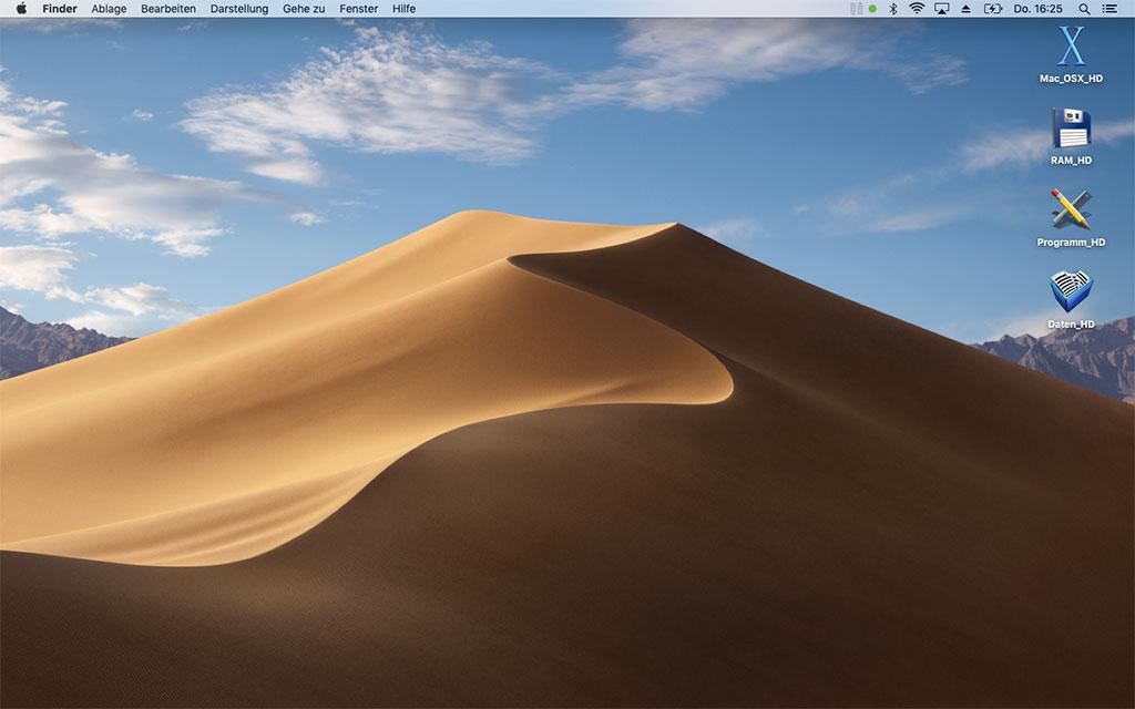 Mac OSX Mojave - Schreibtisch Hintergrund