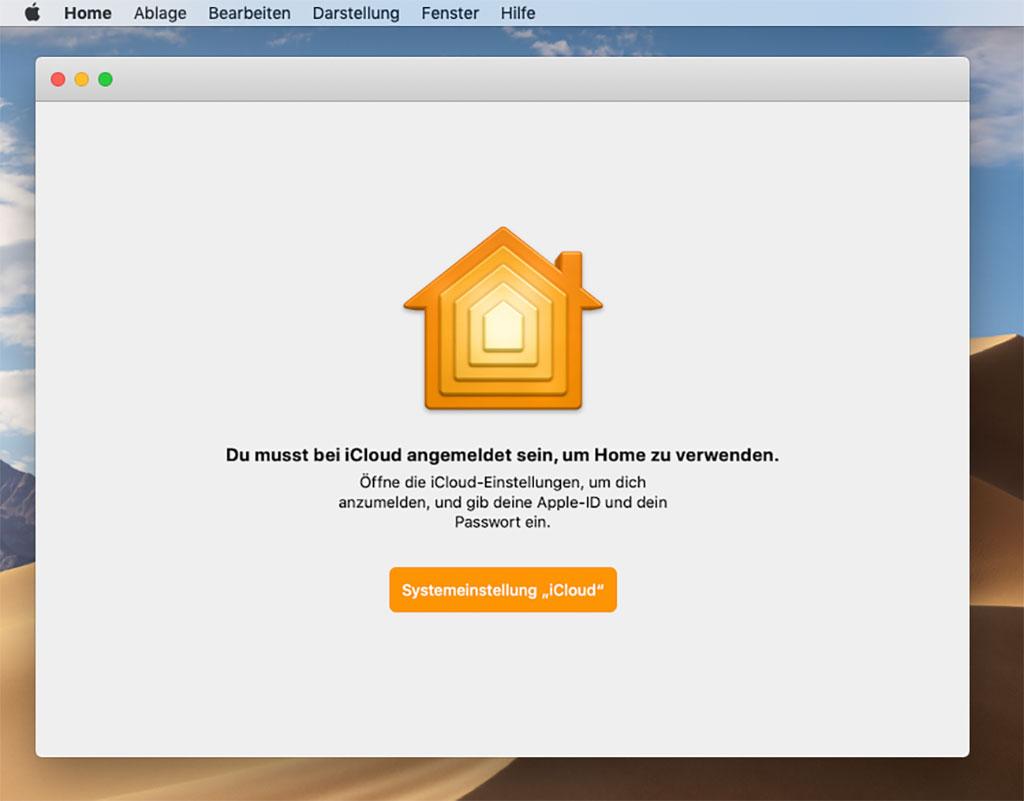 "Mac OSX Mojave - App ""Home"" für Smarthome"
