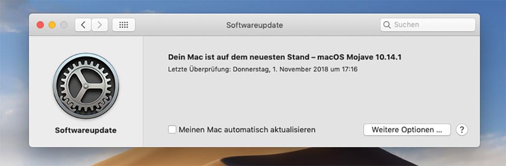 Software Update wieder in den Systemeinstellungen